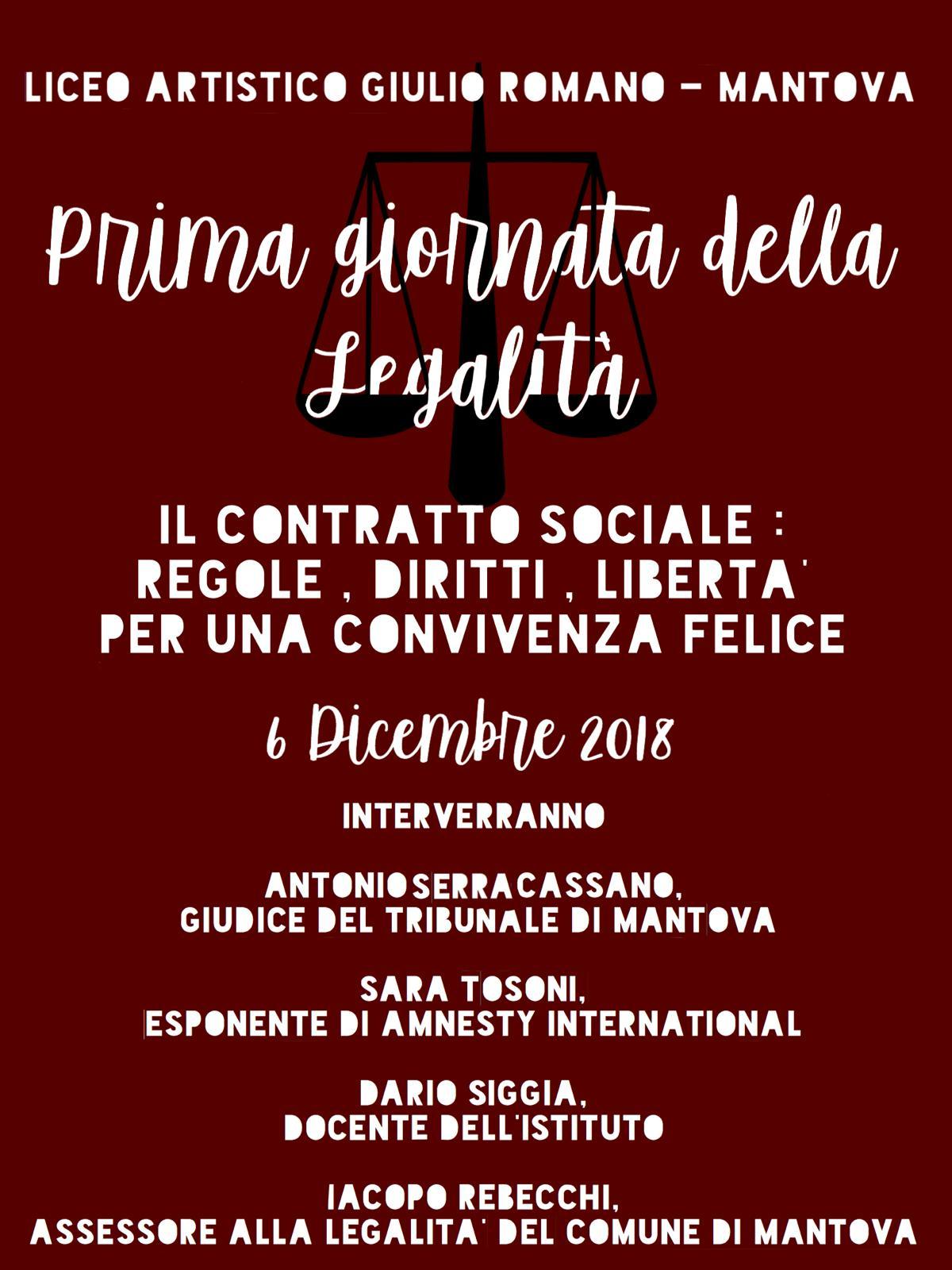Cusmibio Calendario.1ª Giornata Della Legalita 6 Dicembre 2018